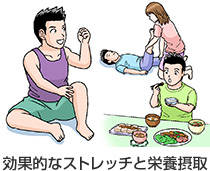効果的なストレッチと栄養摂取
